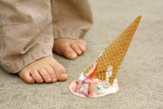 Dropped ice cream cone (stock image). Credit: © Christin Lola / Fotolia